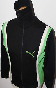 94a7347368ee Mens VTG 70s PUMA DIANA BLACK FUNNEL NECK TRACKSUIT JACKET TOP W.GERMANY 5  SMALL