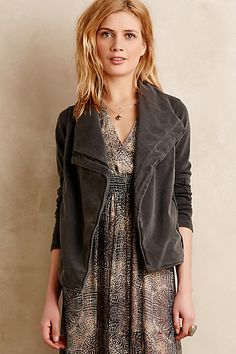 Converge Quilted Moto Cardigan #anthropologie