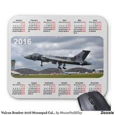 Vulcan Bomber 2016 Mousepad Calendar.  2015 will see the last flights of this iconic aircraft