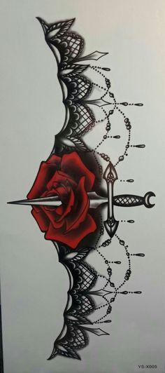 Grashine fake temp tattoo stickers for women's chest Jewelry design with rose fl. - Grashine fake temp tattoo stickers for women's chest Jewelry design with rose fl… - Badass Tattoos, Sexy Tattoos, Cute Tattoos, Beautiful Tattoos, Flower Tattoos, Body Art Tattoos, Tribal Tattoos, Garter Tattoos, Wing Tattoos