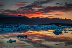 Sunrise at the Glacier Lagoon, south Iceland by Skarpi Thrainsson on 500px