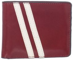 J.Fold Men's Roadster Slimfold, Dark Red, One Size J. Fold. $55.39. Speedy racing stripes and a slim profile make this J. Fold Roadster wallet fast off the line.. One bill slot and eight card slots. Slimfold design. Dry clean only. 100% top-grain leather