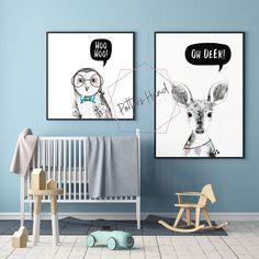 Woodland Animal Set, Woodland Nursery Prints Set of 5, Baby Boy, Printable Wall Art, Digital Prints, Kids Room Decor, Baby Shower Nursery Art, Nursery Decor, Room Decor, Wall Decor, Boy Printable, Printable Wall Art, Printables, Woodland Nursery Prints, Oh Deer