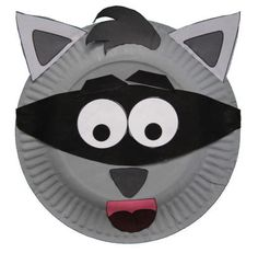 Paper Plate Raccoon Craft for the Kissing Hand