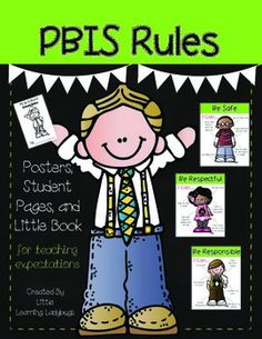 PBIS Rules Posters and Printables {for teaching expectations}- Be Safe, Be Respectful, Be Responsible