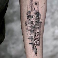 Tattoo Goat, Lion Tattoo, Axe Tattoo, Tattoo Ink, Geometric Wolf Tattoo, Shadow Tattoo, Ink Pen Art, Samurai Artwork, Trash Polka Tattoo