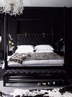 Black Walls with Black Bedding