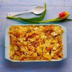 Sweet potato macaroni cheese by Nigella Lawson Simply Nigella, Pasta Recipes, Cooking Recipes, Blender Recipes, Macaroni Cheese, Mac Cheese, Rachel Ray, Dinner Dishes, Main Dishes