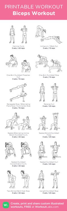 Biceps Workout: my visual workout created at WorkoutLabs.com • Click through to customize and download as a FREE PDF! #customworkout