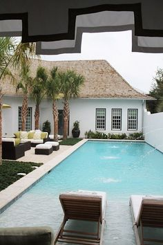 Swimming Pool Ideas: Coastal Living Ultimate Beach House in Rosemary Beach The Patriotic Peacock Jacuzzi, Zero Entry Pool, Beach Entry Pool, Rosemary Beach, Small Pools, Dream Pools, Pool Landscaping, Backyard Pools, Backyard Cabana