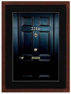 Sherlock Holmes 221b Door water color painting Framed Prints, Poster Or Cards