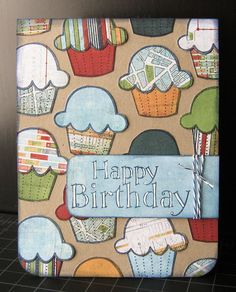 02-14-11 Fabulous VTM 23 - Jake's Birthday Card-1 by b.swiderski (Britta), via Flickr  Could be good for a boy/man card.
