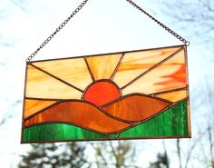 Stained glass sunset.