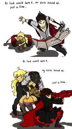 I would love to see Yang and Ruby save Qrow someday. But I think it was much…