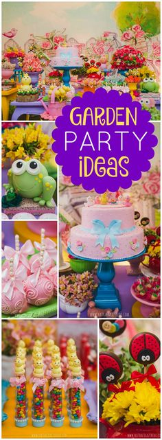 So many amazing details at this pretty garden party! See more party ideas at CatchMyParty.com!