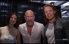 Caitriona, Graham and Sam at Comic con