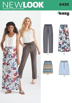 Whether you prefer a mini or a maxi - or even a pair of comfy trousers - this pattern has got you sorted! #New #Look #sewing #pattern 6436