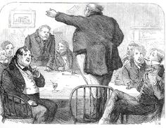"""The Pickwick Club,"" the first full-page illustration by Sol Eytinge"