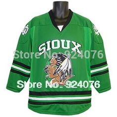 Blank 2013 N C A A University North Dakota Sioux K1 Home Jersey - Customized Hockey Jersey Any Number, Any Name Sewn On (S-6XL)