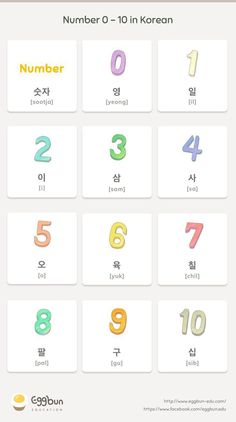 Number in Korean Chat to Learn Korean with Eggbun! Learn Basic Korean, How To Speak Korean, Korean Slang, Korean Phrases, Korean Words Learning, Korean Language Learning, Learning Spanish, Learn Korean Alphabet, Korean Letters