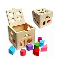 NUOLUX Wooden Toys Toddler Toys Baby Education Wooden Building Blocks: