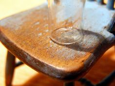 aging wooden furniture