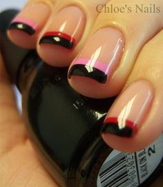 Shellac; Black, Pink & Red