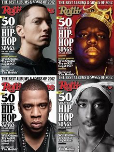 Rolling Stone grabs four of the greatest to ever do it, for four different covers of their year end issue. The issue counts down the 50 greatest hip-hop songs of all time.  Rolling Stone is wrapping up the year of 2012 with four different magazine covers, each featuring acclaimed hip-hop artists.