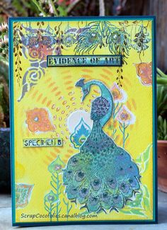 A card with Tando's Sunburst and Baroque stencils