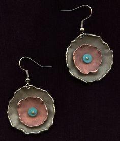 www.gallerysanivia.com  Handmade jewellery  Kolczyki z Turkusem artystyczna biżuteria