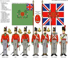 British 69th Regiment. They occupied part of Wellington's right flank at Waterloo, after having been ridden down and mauled by French cuirassiers at Quatre Bras two days earlier, losing their King's Colour in the process to a triumphant cuirassier, no doubt. It was later recovered in France and returned to the regiment, somewhat restoring their pride.