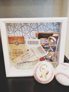 DIY ticket shadow box
