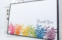 Rainbow Than You card using Painted Harvest from Stampin' Up! demonstrator StampinbyHannah Amazing project from one of my team members. I love rainbows, and this card fits the bill!