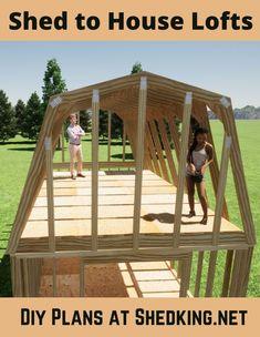 Log Cabin Floor Plans, Cabin Plans, Backyard Buildings, Wooden Buildings, Livable Sheds, Outside Sheds, 10x20 Shed, Underground Greenhouse, Shed With Loft