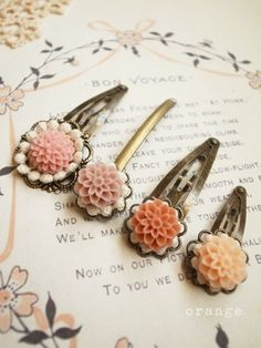 orange: hair pins and clips, so beautiful