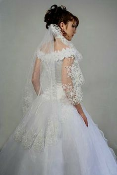 Wedding Dress With Veils Application