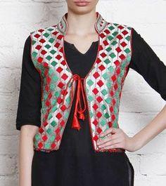bxh Jacket Style Kurti, Kurti With Jacket, Jacket Dress, Silk Jacket, Churidar Designs, Kurta Designs Women, Blouse Designs, Indian Jackets, Kurti Designs Party Wear
