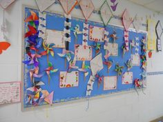 Spring writings and hallway decorations