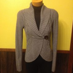 Grey Cardigan Buttons on front Sweaters Cardigans