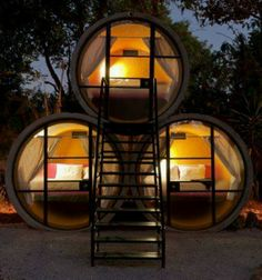 This is cool...  I wonder if they're tall enough to stand up in?  You could have a pipe for each room...