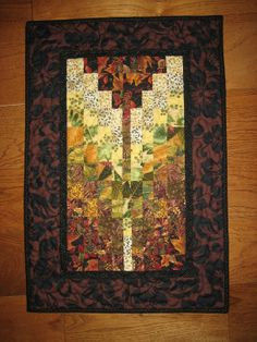 Your place to buy and sell all things handmade Bargello Quilts, Contemporary Quilts, Black Flowers, Quilted Wall Hangings, Small Rings, Earth Tones, Black Fabric, Baby Quilts, Quilt Patterns