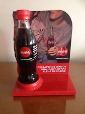 Coca Cola Employee Bottle with stand from Colombia 2016 TASTE THE FEELING