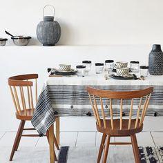 Image du produit Nappe et serviettes lin à carreaux