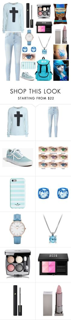 """""""Just hold me close~"""" by weredragon360 ❤ liked on Polyvore featuring Wildfox, Frame, Madewell, Kate Spade, Atelier Swarovski, CLUSE, David Yurman, Chanel, Givenchy and Lancôme"""