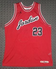 bb2b3147c Details about Jordan Vintage Basketball Jersey Retro Red MJ Chicago Bulls  GOAT sz XL