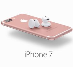 New iPhone 7 with cordless earbuds. (How many of these earbuds will be lost the very first day!)