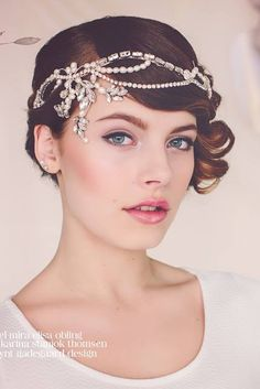 The Norma Flapper Bridal Headpiece by Gadegaard Design - photocredit: www.tinaliv.com - model: Mira Obling - MUA: Karina Staniok Thomsen