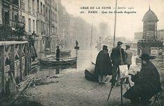 Les rues de Paris | Paris d'antan en vieilles photos et cartes postales quai des grands augustins