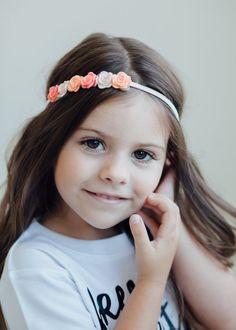 Diadema flor fieltro: recién nacido/bebé/niño por GrayandMae