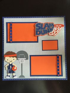 Boy Basketball 12x12 Premade Scrapbook Page